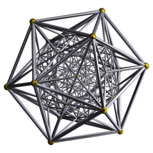 600-cell - Image: Schlegel wireframe 600 cell vertex centered