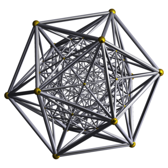 600-cell - Image: Schlegel wireframe 600 cell vertex centered