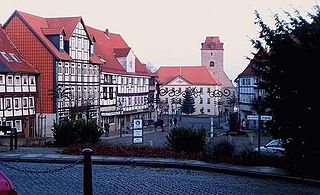 Schöningen Place in Lower Saxony, Germany