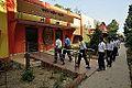 School Students Entering - Swami Akhandananda Science Centre - Ramakrishna Mission Ashrama - Sargachi - Murshidabad 2014-11-11 8702.JPG
