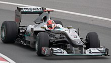 Photo de la Mercedes MGP W01 de Schumacher au Canada