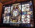 Scrittoio di calliope, vetrata con teoletta di venere di gualtieri d'anversa su disegno di vasari e marco da faenza.JPG