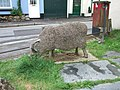 Sculpture of a Black Faced Sheep, Moretonhampstead - geograph.org.uk - 1395254.jpg