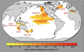Sea surface Temperatures SST anomalies 1982 2016 en.png