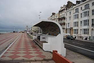 St Leonards-on-Sea - Image: Seafront shelter geograph.org.uk 1351324