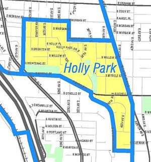 NewHolly, Seattle - Unofficial map of Holly Park as defined by the City Clerk's Seattle Neighborhood Atlas