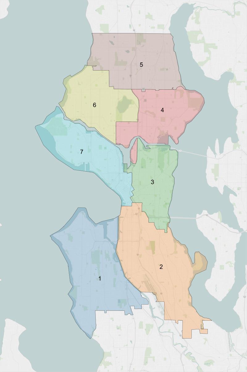 Seattle City Council District map.png