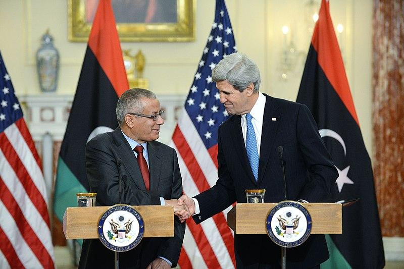 File:Secretary Kerry Shakes Hands With Libyan Prime Minister Zeidan.jpg