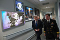 "Secretary of Defense Chuck Hagel, left, walks with U.S. Navy Rear Adm. John Kirby, a Pentagon spokesman, after appearing on ""Face the Nation"" at CBS News in Washington, D.C., March 2, 2014 140302-D-BW835-071.jpg"