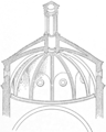 Section of vault of the Pazzi chapel (Character of Renaissance Architecture).png