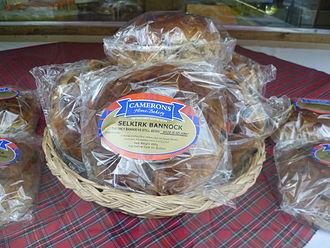 Bannock (food) - Image: Selkirk Bannock