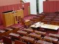 Senate benches closeup, Parliament House, Canberra.jpg