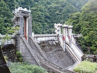 Senzu Dam dam in Shizuoka Prefecture, Japan
