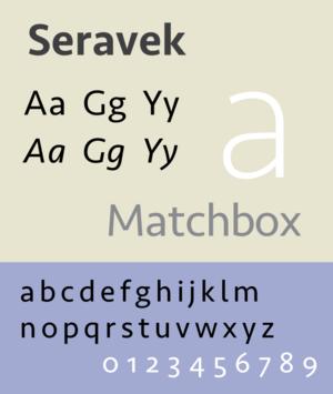 Seravek - Image: Seravek sample