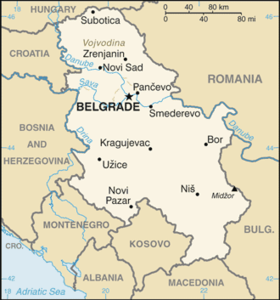Géographie de la Serbie — Wikipédia