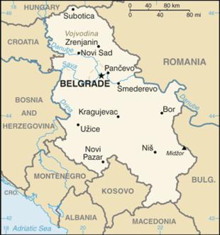 Geografia Della Serbia Wikipedia