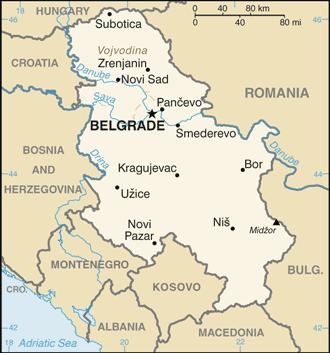Serbia-CIA WFB Map