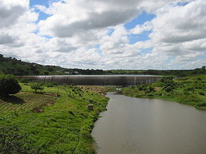 Pajeú River - Jazigo Dam and the river