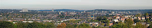 Geography of Sheffield - Panorama of Sheffield from Meersbrook Park.