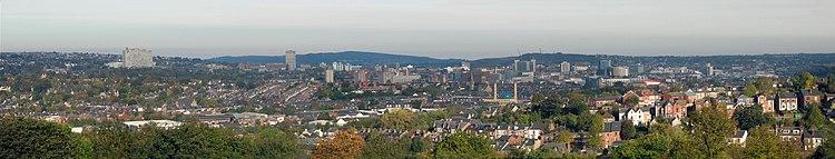 Panorama from Meersbrook Park.