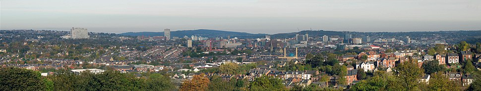 Panorama of Sheffield taken from Meersbrook Park