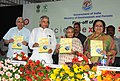 Sheila Dikshit, the Union Minister for Railways, Shri Pawan Kumar Bansal and the Minister of State (Independent Charge) for Environment and Forests, Smt. Jayanthi Natarajan released a book.jpg