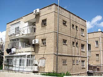 Shikun Chabad - Original apartment buildings in Shikun Chabad