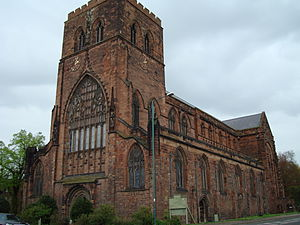 Robert Corbet (died 1420) - Shrewsbury Abbey today. Only part of the great medieval monastery survives as Holy Cross parish church.