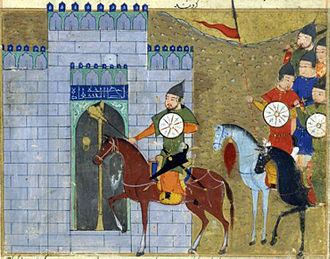 Inner Mongolia - Persian miniature depicting Genghis Khan entering Beijing