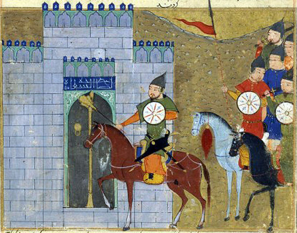 Genghis Khan entering Beijing.
