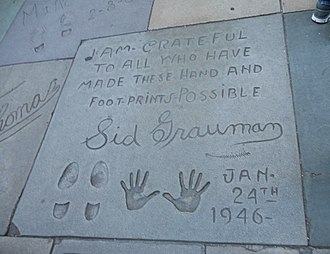 Sid Grauman - Sid Grauman's imprint