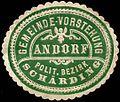 Siegelmarke Gemeinde-Vorstehung Andorf - Politischer Bezirk Schärding W0261306.jpg