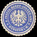 Siegelmarke Königlich Preussisches Haupt - Steuer - Amt - Münster in Westfalen W0235772.jpg