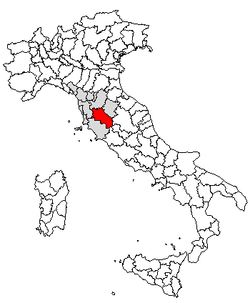 Location of Province of Siena