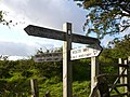 Sign at meeting point of The Wolds Way and The Chalkland Way - geograph.org.uk - 977056.jpg