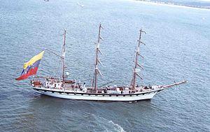 Simón Bolívar (barque) - Simon Bolivar under sail