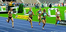 Sina Schielke (192) wins the 100 metres race - ISTAF 2006 - Berlin, 3 September.jpg