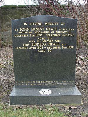 J. E. Neale - Sir John Neale's grave, Harrogate Cemetery