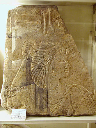 Sitamun - A relief from Amenhotep II's mortuary temple adapted for Sitamun, on display at the Petrie Museum, London (UC 14373).