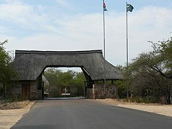 Camp entrance at Skukuza