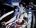 Skylab 4 Gibson uses bicycle ergometer.jpg