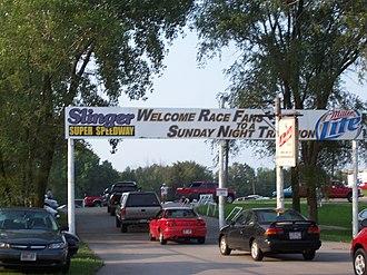 Slinger Speedway - Entrance