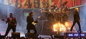Slipknot ludanta en festivalo Mayhem-festivalo en 2008