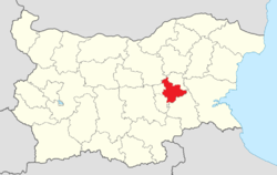 Sliven Municipality Within Bulgaria.png