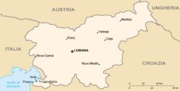 Slovenia - Mappa