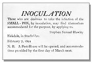 Smallpox inoculation sign, 1801