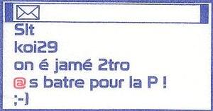 Français : Exemple d'un texte en SMS