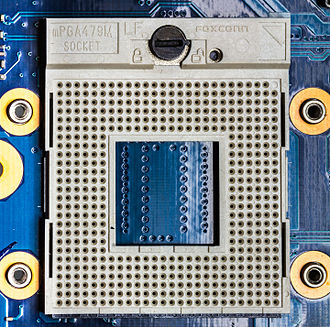 Socket 479 - Image: Socket m PGA479M 3717