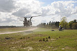Soldiers with 1st Inf. Div. complete aircraft recovery training at JRTC DVIDS544539.jpg