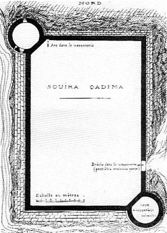 "Souira Guedima - Description of the ""Souia Qadima"" fortress, in Edmond Doutté (1867-1926)"